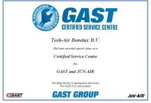 Tech-Air Benelux BV krijgt predicaat Certified Service Center